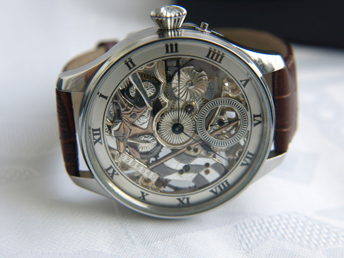 21 Longines men's marriage skeleton watch 1915-1917
