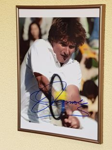 Jimmy Connors - Tennis legend - original signed framed photo + COA