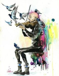Lora Zombie - Old Man Punk and Violin