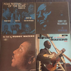 Blues; lot of four very rare albums - Sonny Boy Williamson, Muddy Waters, Willie Dixon, Buddy Guy and Howlin' Wolf - (1965/1967)