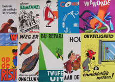 Several designers - 10 safety posters - 1955/1970