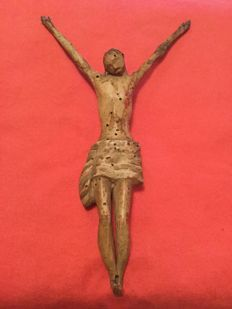 Wooden statuette depicting Christ - 16th/17th century