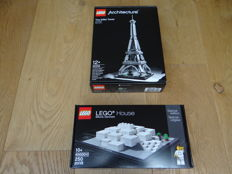 Architecture - 21019 + 4000010 - Eiffel Tower + LEGO House
