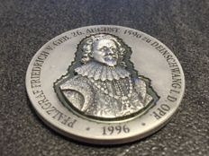 Germany - King of Bohemia - 37 grams 999 silver medal - 3D effect - antique finish