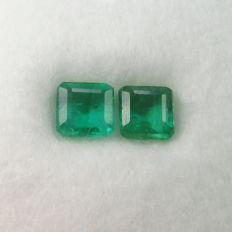 2.60 Ct - Emerald Pair - No Reserve
