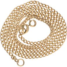 18 kt Yellow gold curb link necklace – Length: 42 cm