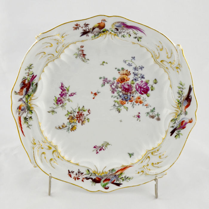 Rare British Porcelain Plate of Chelsea Factory – 18th Century