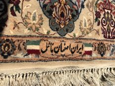 Perfect Persian / Iran ISPAHAN Rug- 185x115cm -hand knotted - UNIQUE about 1.200000 knots m.k 3D !!!!!!! Signature in wool !