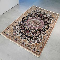 Beautiful colourful Nain Persian carpet - 139 x 91 - with certificate