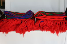 Lot of 2x beadspreads for single bed, 100% hand-woven pure wool, Lowicz 80 km from Varsavia, Mazovia, Poland