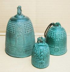 Japanese temple bell set of 3 – Japan – late 20th century
