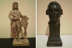 Sculptures: German musician and composer Johann Sebastian Bach and bust of the Austrian musician and composer Franz Joseph Haydn.