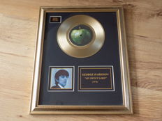 "George Harrison "" My Sweet Lord "" 7"" gold record."