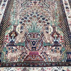 Beautiful colourful Pakistani Ghom rug - 157 x 92 -