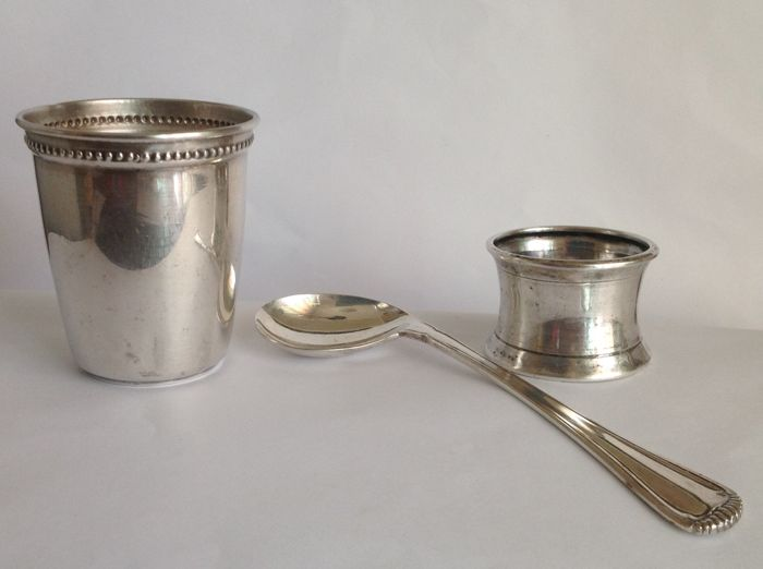 Mush food set in 800 silver, for infants