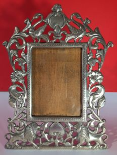 Antique 925 solid Silver photo frame from the early 1900s, ITALY.