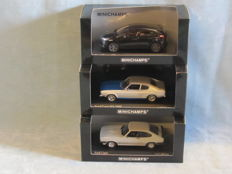Minichamps - Scale 1/43 - Ford Set of 3 models: Focus ST & 2 x Capri