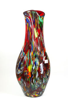 Mario Costantini (Murano) -  Large Red vase (53cm)