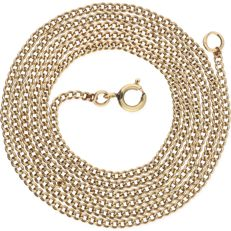 14 kt – Yellow gold curb link necklace – Length: 66.5 cm