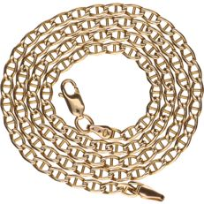 Yellow gold 14 kt curb link necklace – Length: 50 cm.