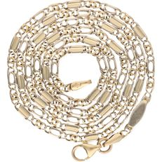 14 kt yellow gold curb link necklace – Length: 53.5 cm