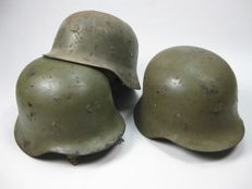 Lot of 3 Spanish helmets model Z-42