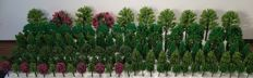 Scenery N - Lot with 150 trees / model construction trees