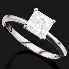 14KT Solid  White  Gold Ring  - US size 7.5