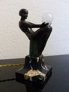 Max Le Verrier - Art Deco lamp 'Songe'