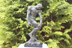Very large pure bronze Adam after a  reproduction of the Rodin sculpture from 1880-1881