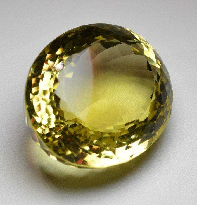 Yellow citrine - 124.83 ct.