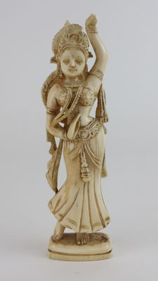 Ivory carving of Dancer -  East India - 19th century