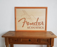 Fender Acoustics advertising Panel with milled letters