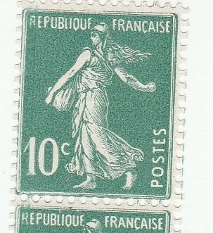France - 2 rolls of 11 stamps Yvert 6, type IA (rare) and 2