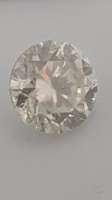 1.57 ct - Round Brilliant - White - G / SI2