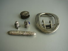 Lot silver utensils, 20th century