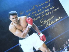 Neil Leifer (1942-) -Hand signed and dedicated by Earnie Shavers