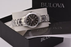 Bulova Diamonds Black watch with diamonds on the dial – steel casing and strap.