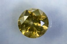 Diamond of 1.55 ct - Fancy  Greyish Yellow - SI2 - Excellent Cut - No Reserve Price