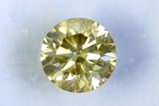 Diamond 0.53 ct - SI2 - Fancy Greenish Yellow - Without Reserve Price