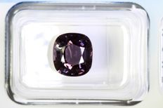Greyish Purple Spinel - 3.58 ct