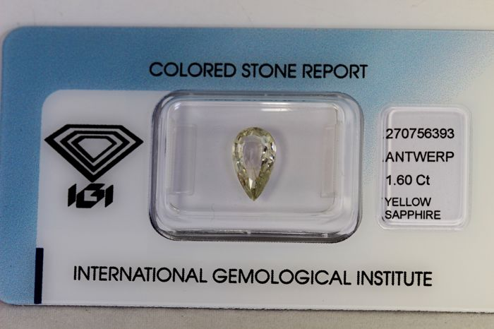 Light Green Yellow Sapphire – 1.60 ct