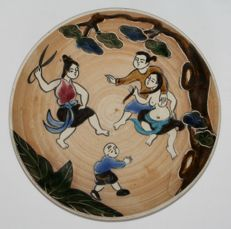 Oriental erotica; Japanese plate – 2nd half of 20th century