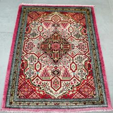 Superior, finely knotted 100% silk Qom Persian carpet – very good condition – with certificate