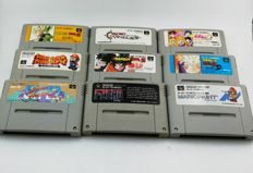 Lot of 9 Super Nes games -  Games like: Dragon ball , Mario RPG  and many more