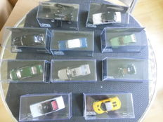 Ixo-Eaglemoss - Scale 1/43 - Lot with 10 Models: 10 x Opel