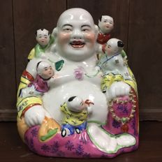 Porcelain Laughing Buddha - China - 1970 - 1980