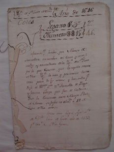 Lot of 4 manuscripts on paper in Spanish - 1619-1845