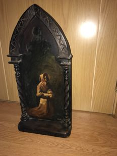 Wooden altarpiece in perfect condition signed by Fonsala.