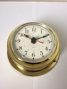 Jughans Quartz brass ship's clock